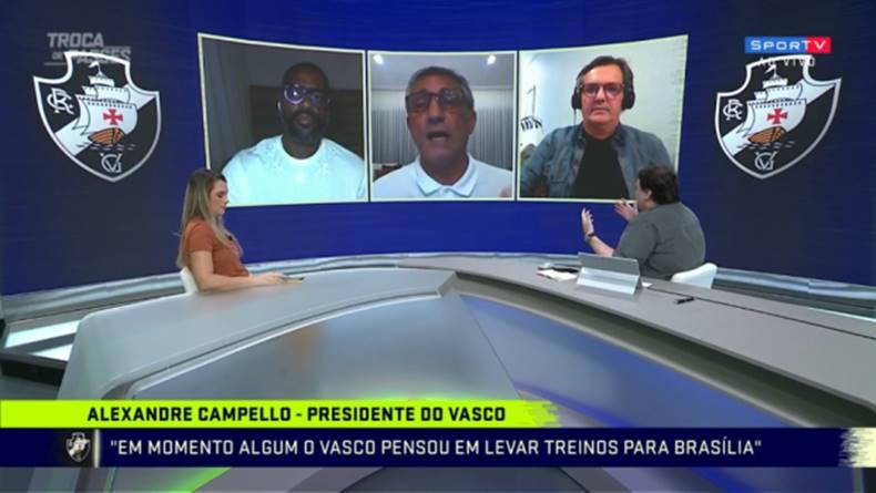 Após reunião com Bolsonaro, presidente do Vasco discute no SporTV